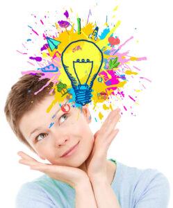 Explosion of Ideas - Woman Generating Ideas